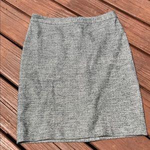 LOFT skirt looks like wool but it's washable!